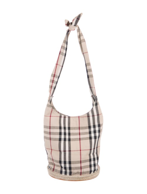 ff5f03a0429 Burberry Nova Check Bucket Bag - Handbags - BUR120112 | The RealReal