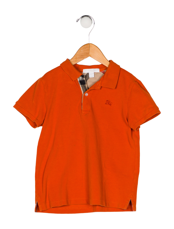 357959022 Burberry Boys' Polo Shirt - Boys - BUR122010 | The RealReal