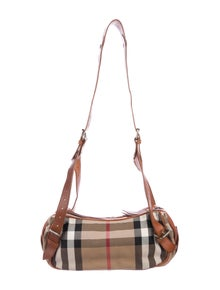 64fa9944b250 Burberry. Leather-Trimmed House Check ...
