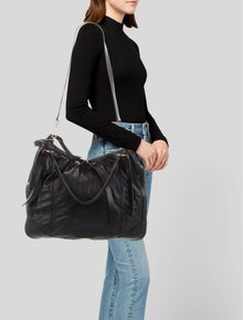 55b59c224746 Burberry. Oversize Lambskin Leather Belted Tote