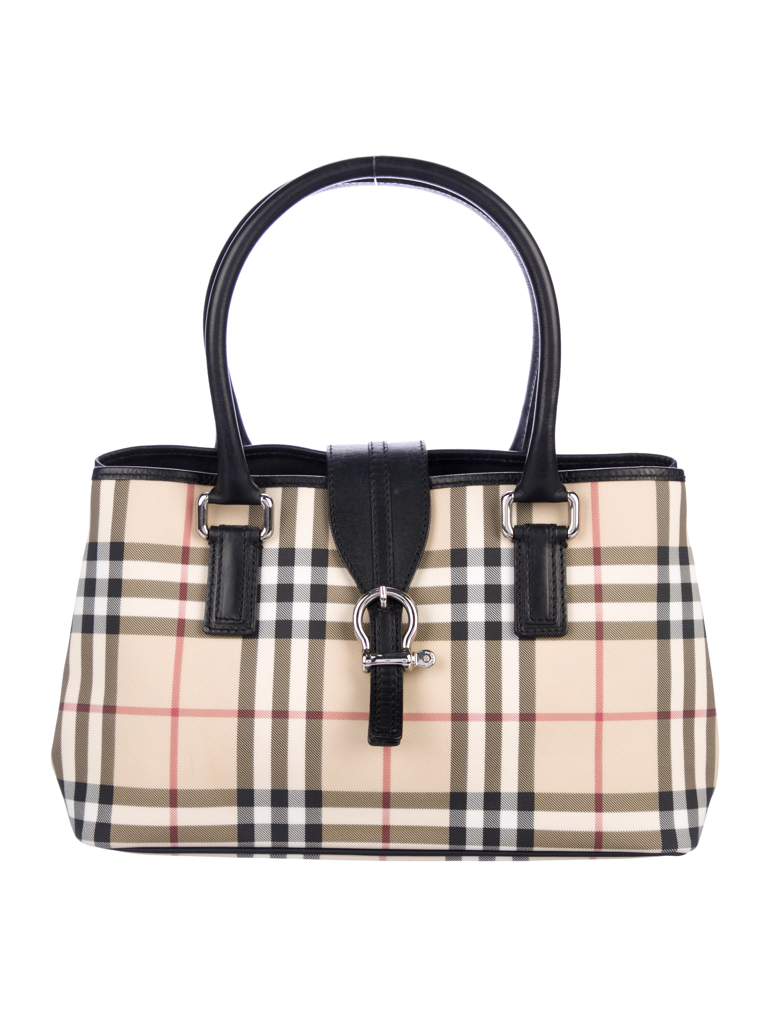 0a1aaf9970a9 Burberry Nova Check Regent Tote - Handbags - BUR125344