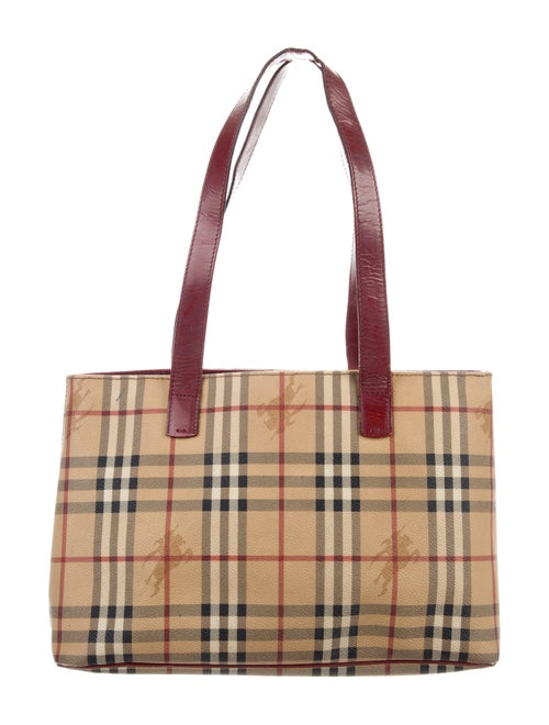 72257143fbe5 Burberry Haymarket Check Shoulder Bag - Handbags - BUR125980