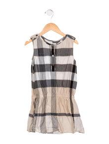 4c8f75007 Burberry. Girls' Exploded Check Sleeveless Dress