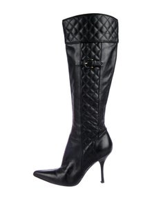85445f3267 Burberry. Leather Pointed-Toe Boots