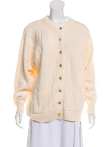 ab8632742c8 Burberry. Vintage Cable Knit Cardigan