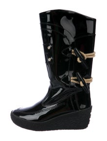 66cbc57a2 Burberry. Patent Leather Boots