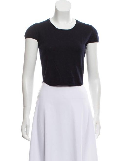 Burberry Wool Short Sleeve Sweater Blue