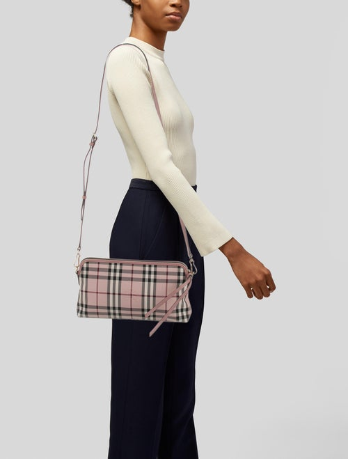 Burberry Horseferry Check Crossbody Bag - Handbags
