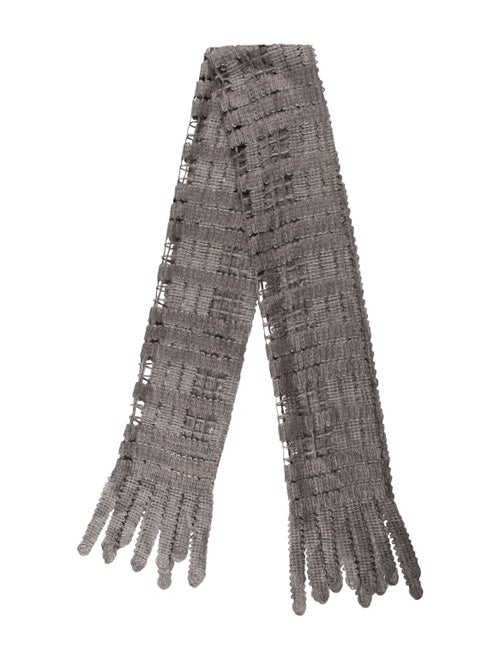 Burberry Woven Mohair Scarf Grey