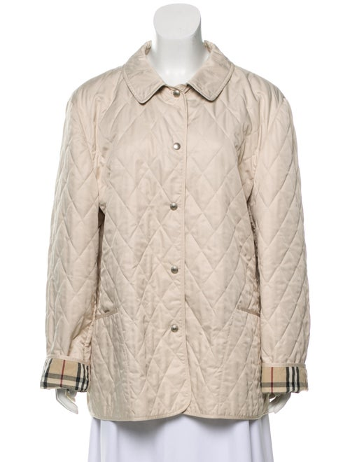 Burberry Quilted Short Jacket Tan