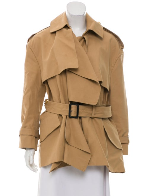 Burberry Short Belted Trench Coat Beige
