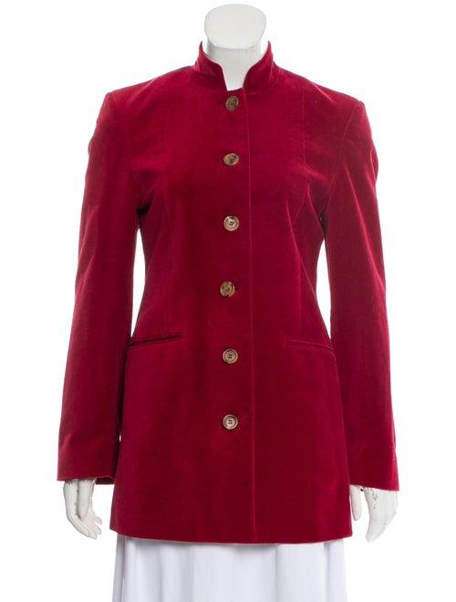 Burberry Velvet Tailored Jacket