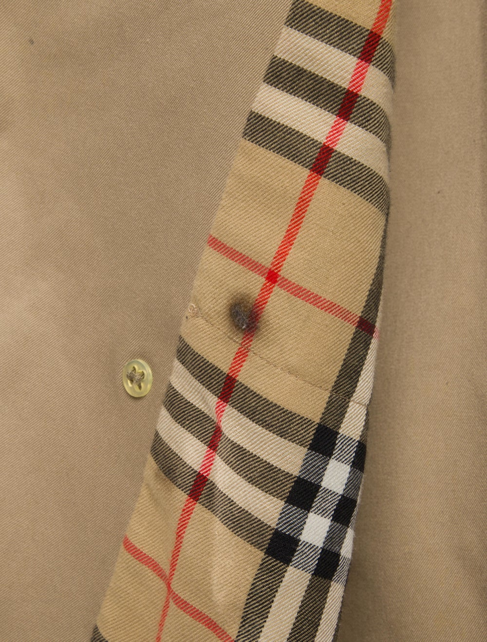 Burberry Double-Breasted Trench Coat Beige - image 4
