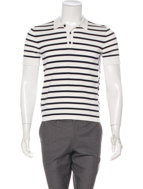 Burberry Striped Polo Shirt white