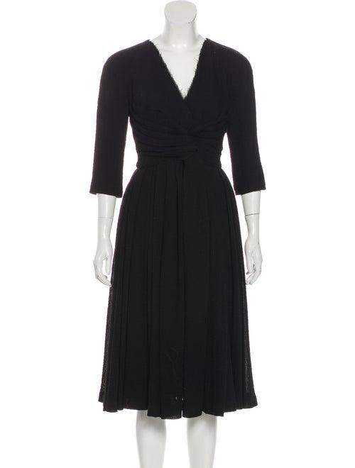 Burberry Wool Seersucker Dress Black