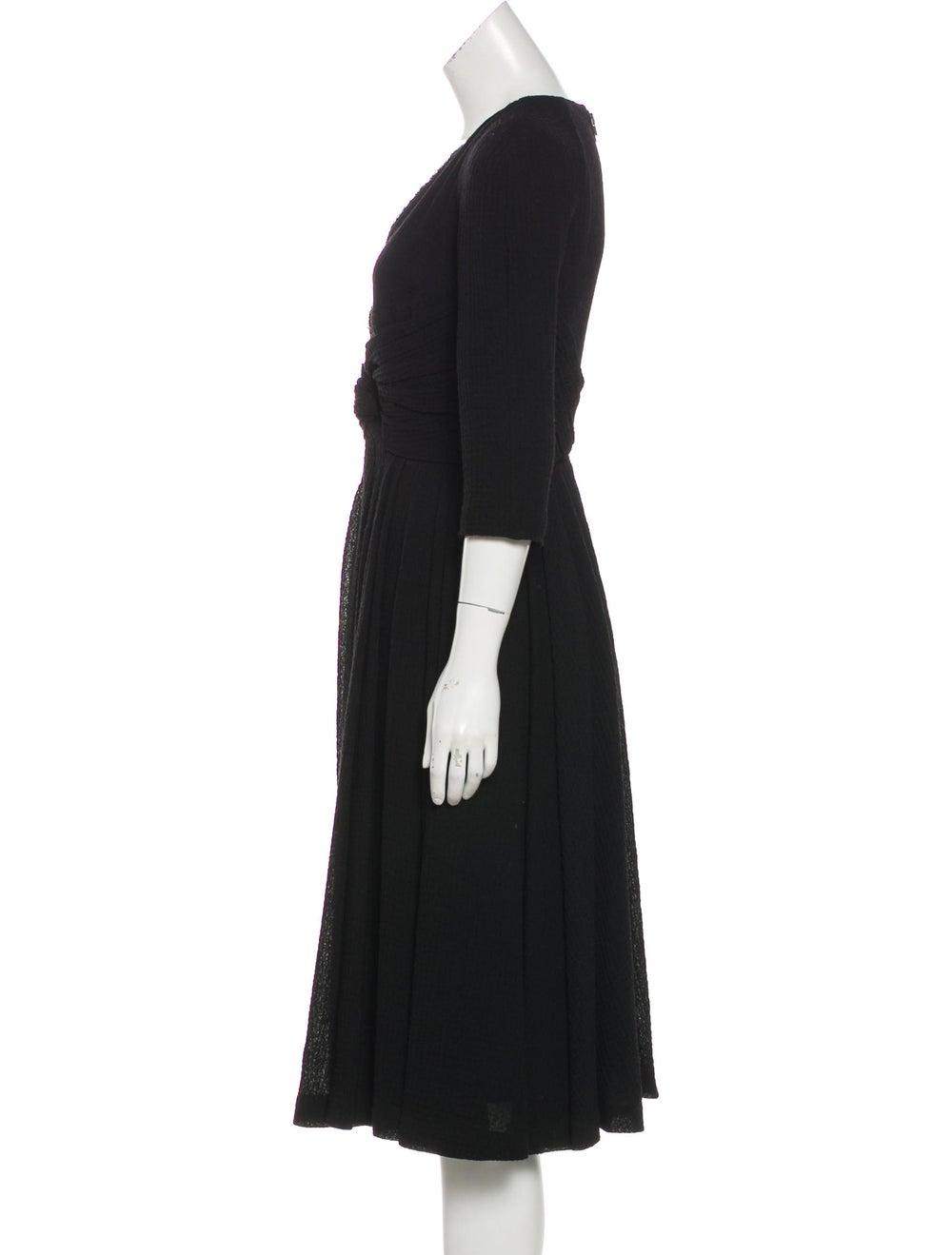 Burberry Wool Seersucker Dress Black - image 2
