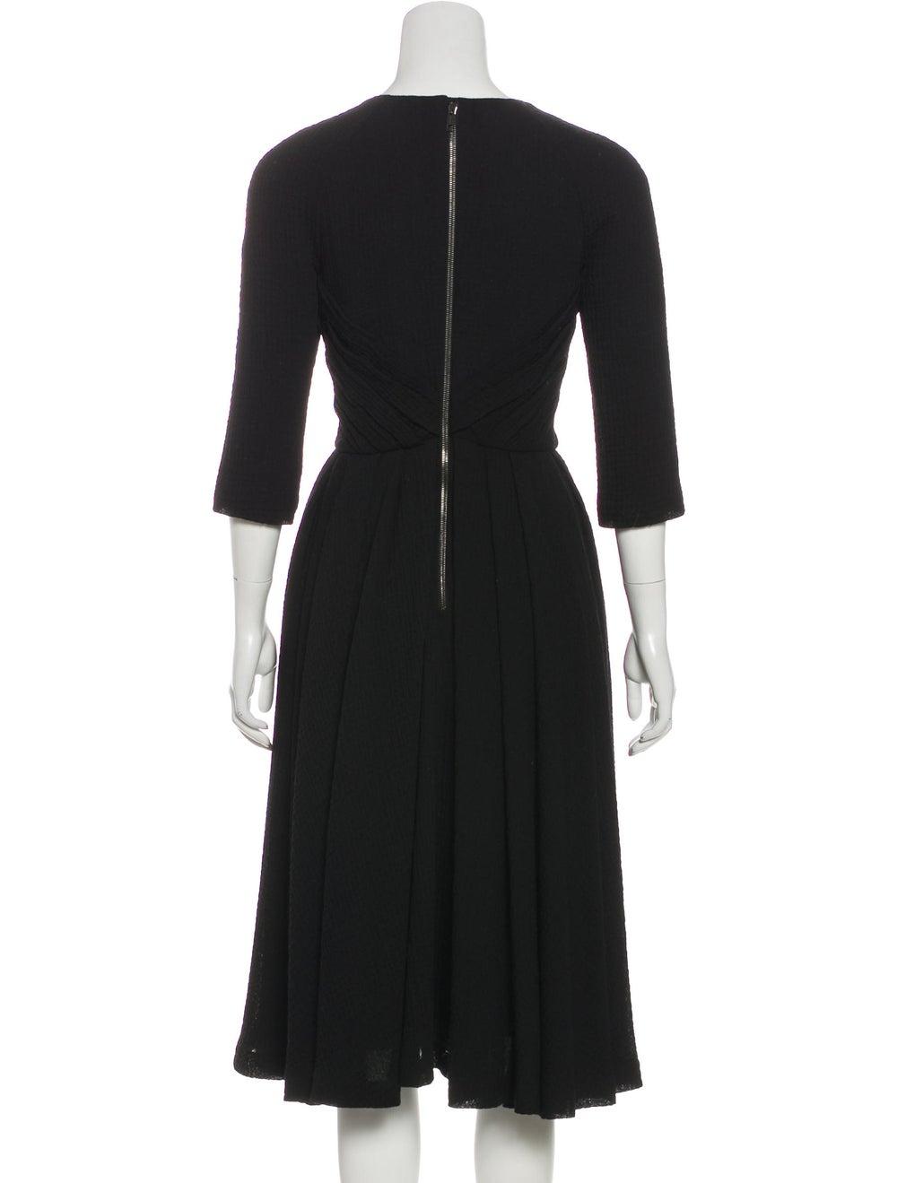 Burberry Wool Seersucker Dress Black - image 3