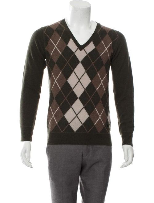 Burberry Wool Argyle Sweater green