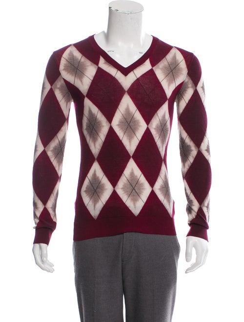Burberry Wool Argyle Sweater multicolor