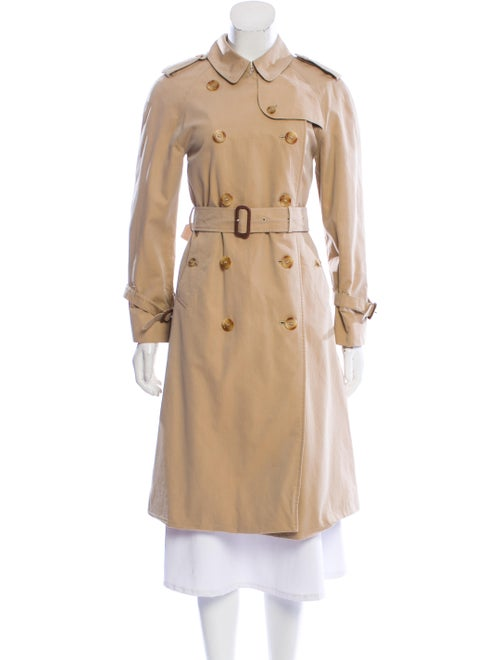 Burberry Double Breasted Trench Coat Beige