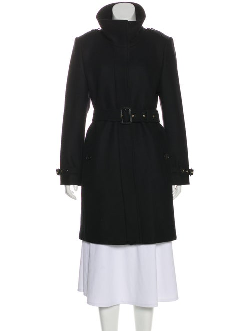 Burberry Belted Wool Coat Black