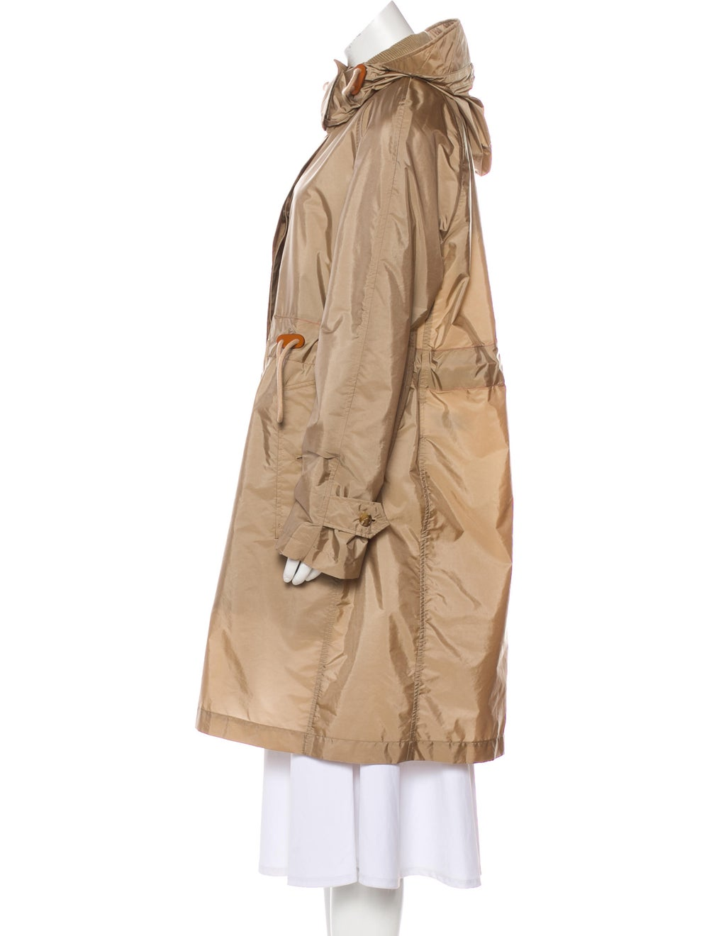 Burberry Knee-Length Trench Coat Beige - image 2