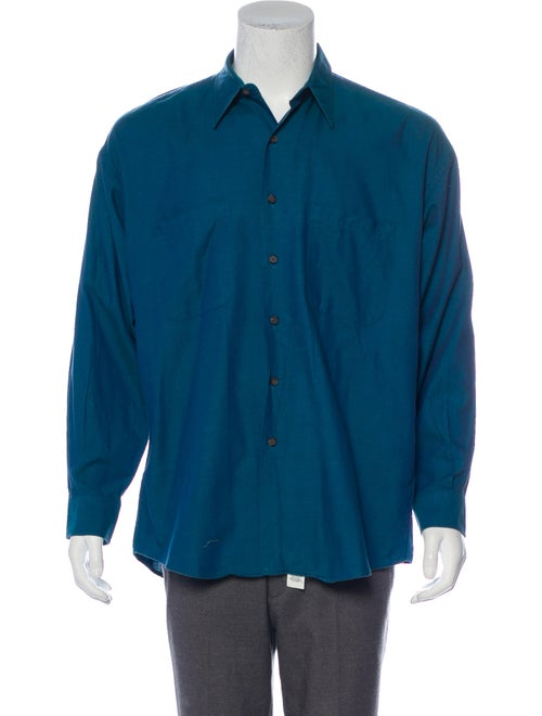 Burberry Vintage Button-Up Shirt teal