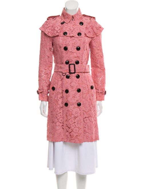 Burberry Lace Trench Coat Pink