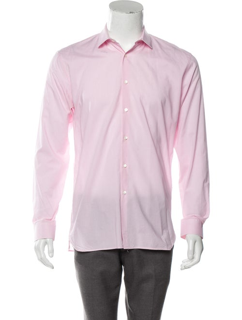 Burberry Woven Gingham Shirt pink - image 1