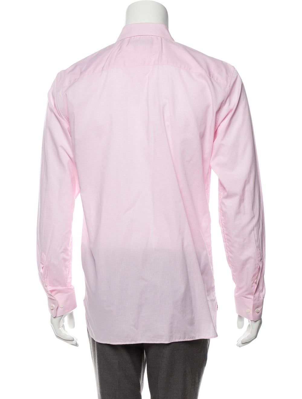 Burberry Woven Gingham Shirt pink - image 3