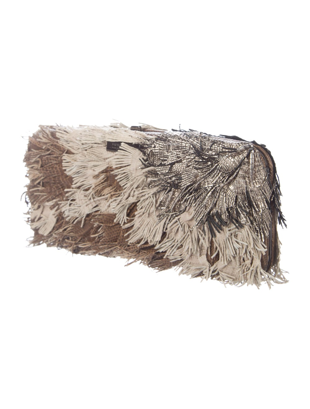 Burberry Fringe Box Clutch Brown - image 3