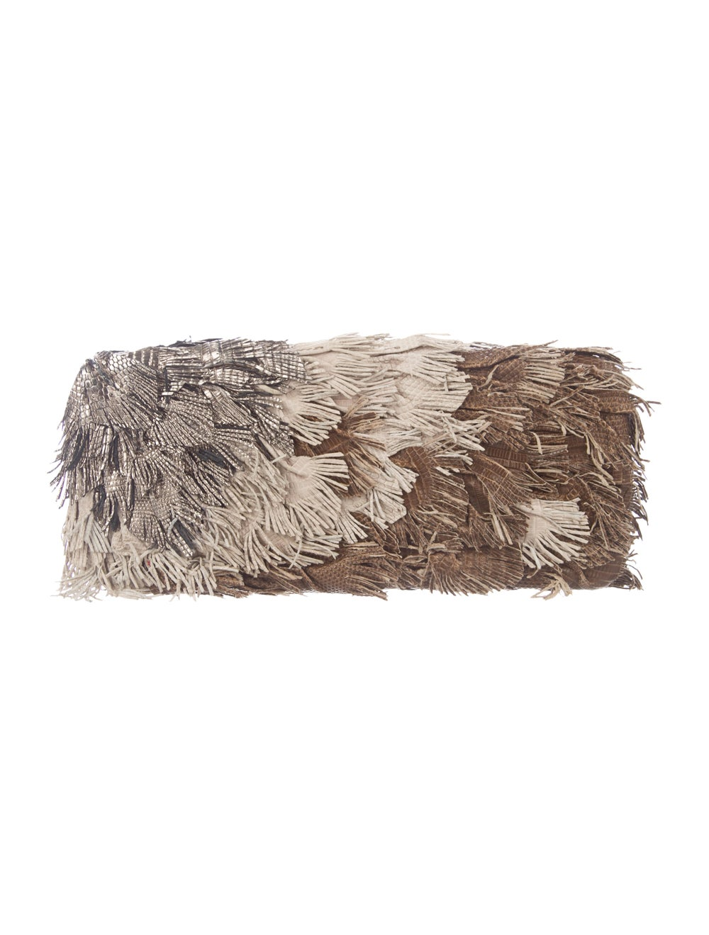 Burberry Fringe Box Clutch Brown - image 4