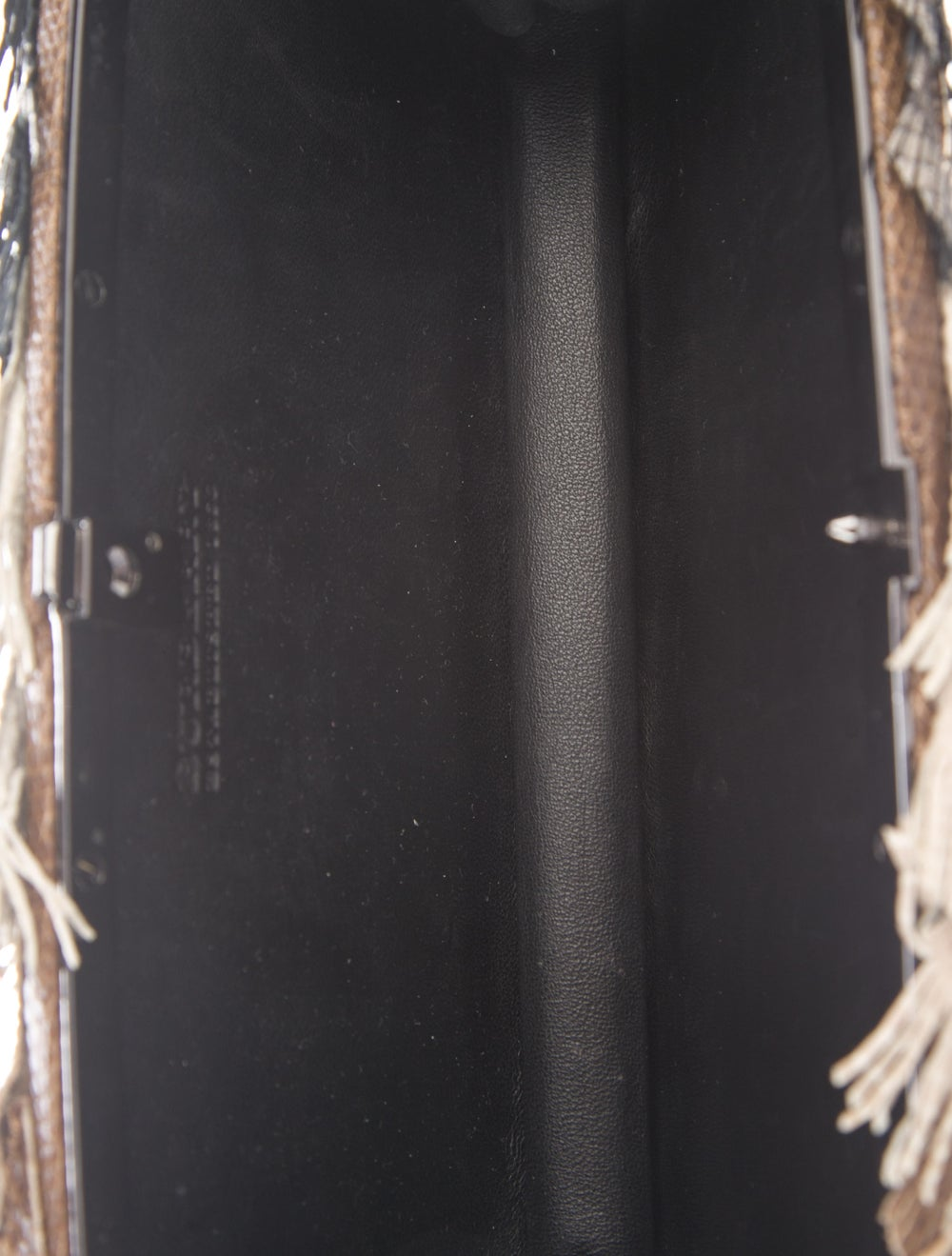 Burberry Fringe Box Clutch Brown - image 5