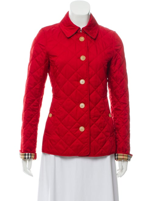 Burberry Ashurst Diamond Quilted Jacket Red