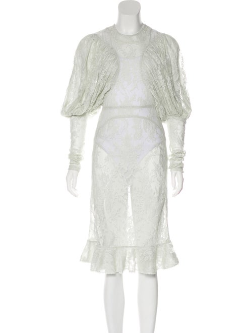Burberry Lace Puff Sleeve Dress