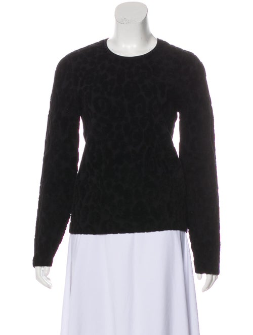 Burberry Textured Knit Sweater Black