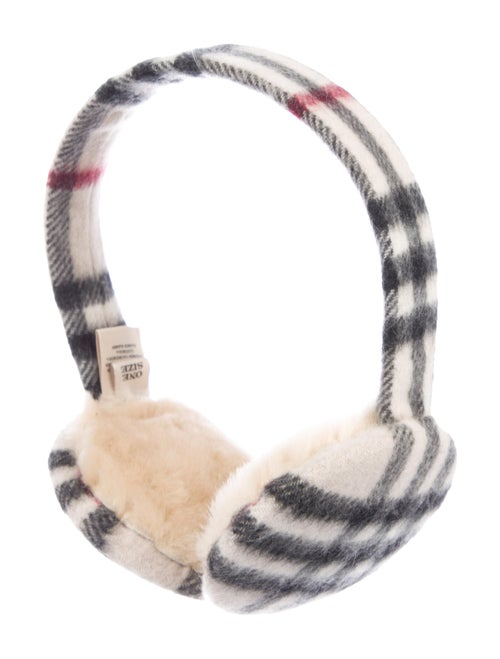 Burberry Nova Check Earmuffs White