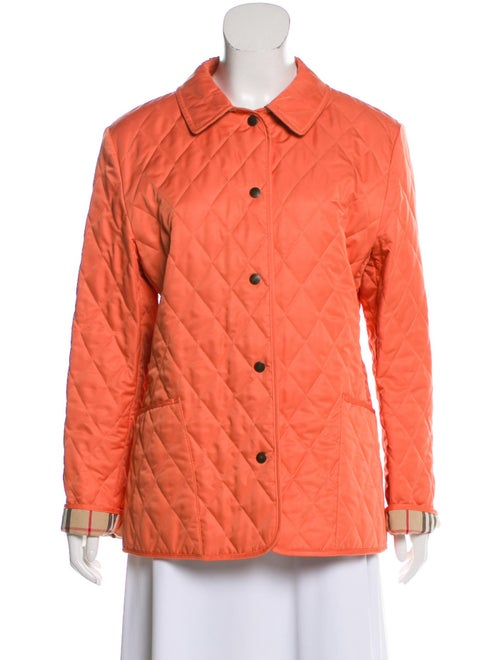 Burberry Quilted Lightweight Jacket Coral