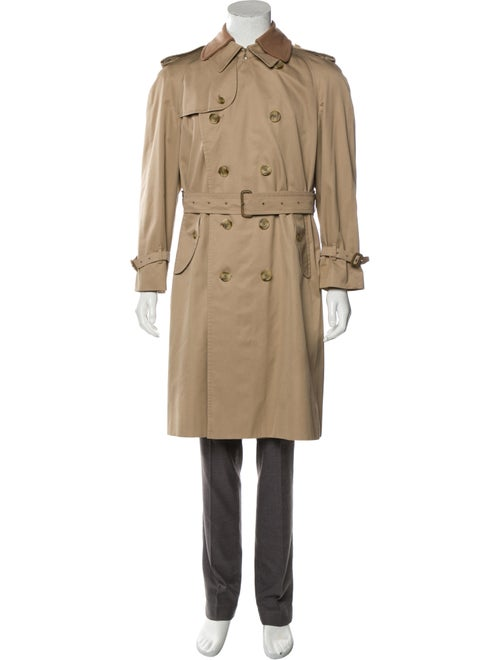 Burberry Wool & Cashmere-Blend Trench Coat beige
