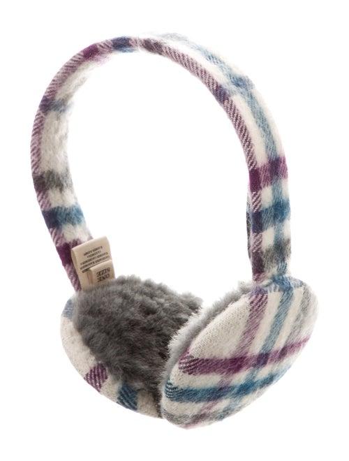 Burberry Nova Check Wool Earmuffs White