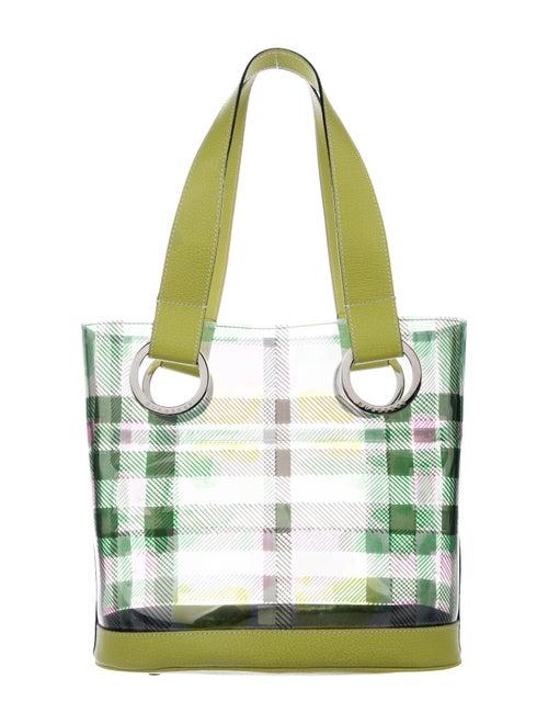 Burberry Check PVC Bucket Bag Clear