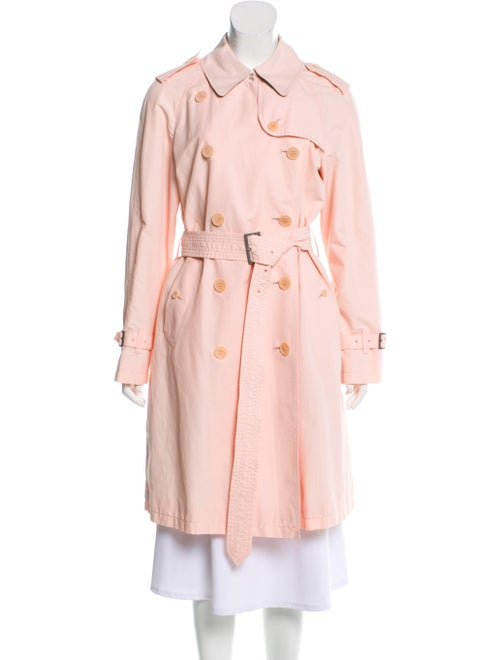 Burberry Structured Trench Coat Pink