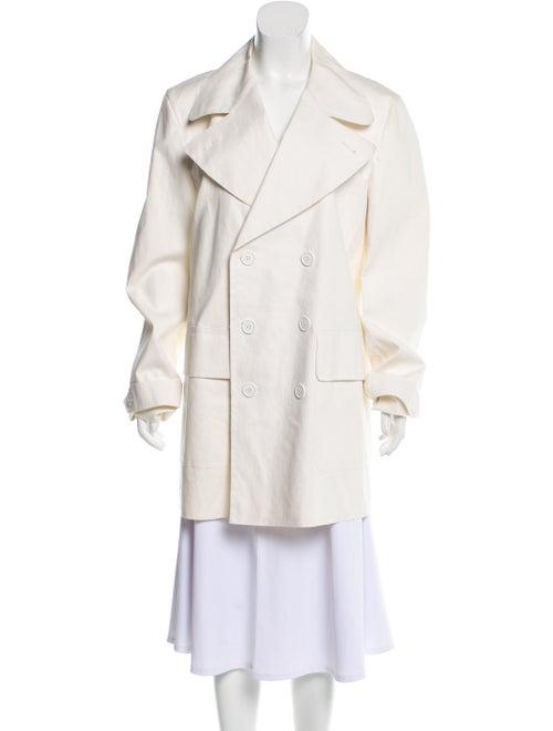 Burberry Short Trench Coat White