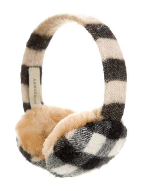 Burberry Nova Check Wool Earmuffs Black