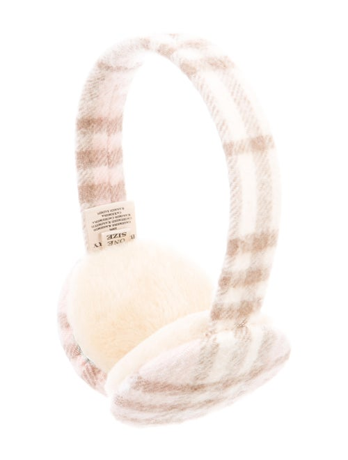 Burberry Cashmere Check Ear Muffs Pink