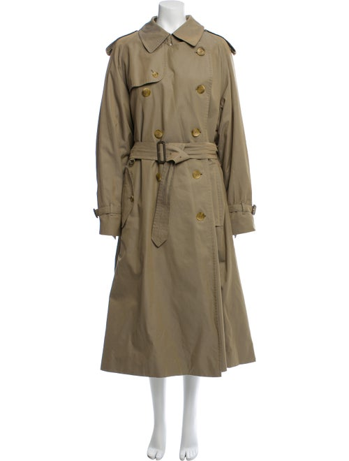 Burberry Wool-Lined Trench Coat Brown