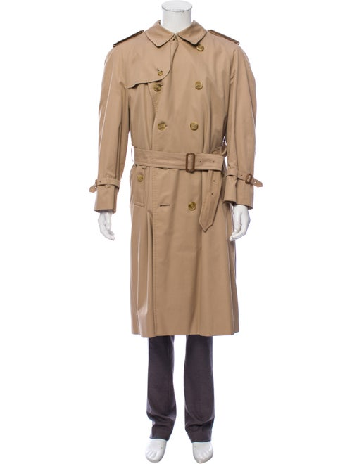Burberry Nova Check-Lined Trench Coat beige