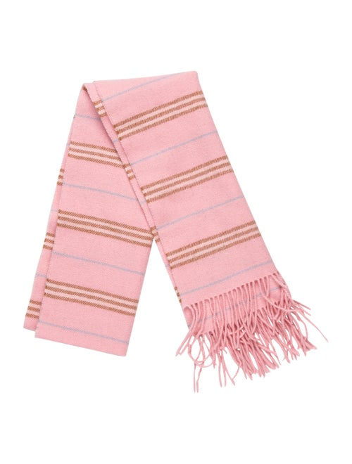 Burberry Nova Check Cashmere Scarf pink