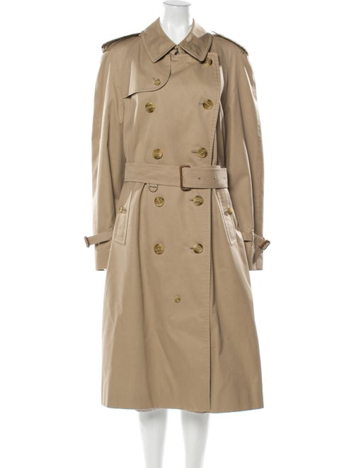 Burberry Long Trench Coat Khaki