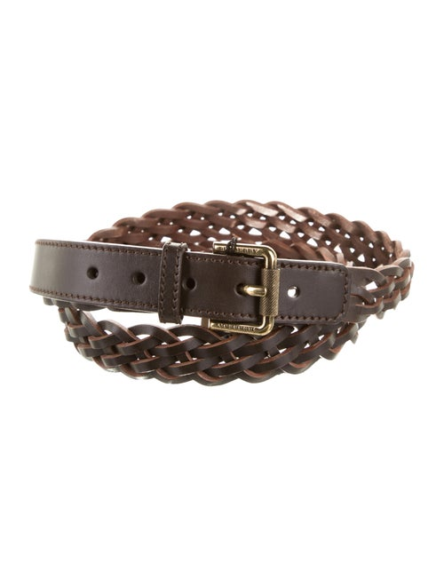 Burberry Braided Leather Belt gold